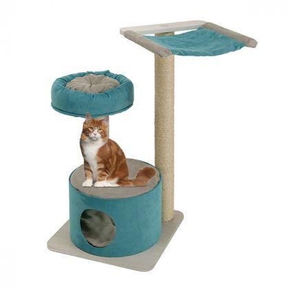 JAGO Tiragraffi per gatti con cuccia, amaca e ripiano - 74062000