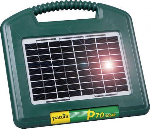 P70 Energiser solare con integr. solarpanel 2.6 W + 12 V / 7 batteria al gel-cell Ah