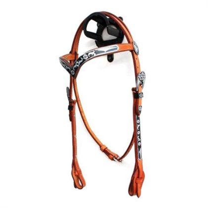 Kopftrense Leder V- Stirnband