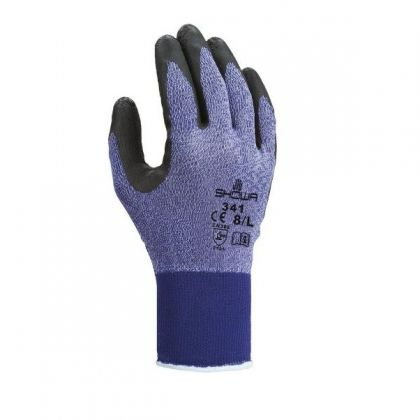 Showa Advanced Grip Technology 341 lila mechanische Schutzhandschuhe