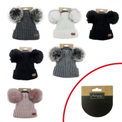 Cappelli Lady Hat + 2 Pom Pom